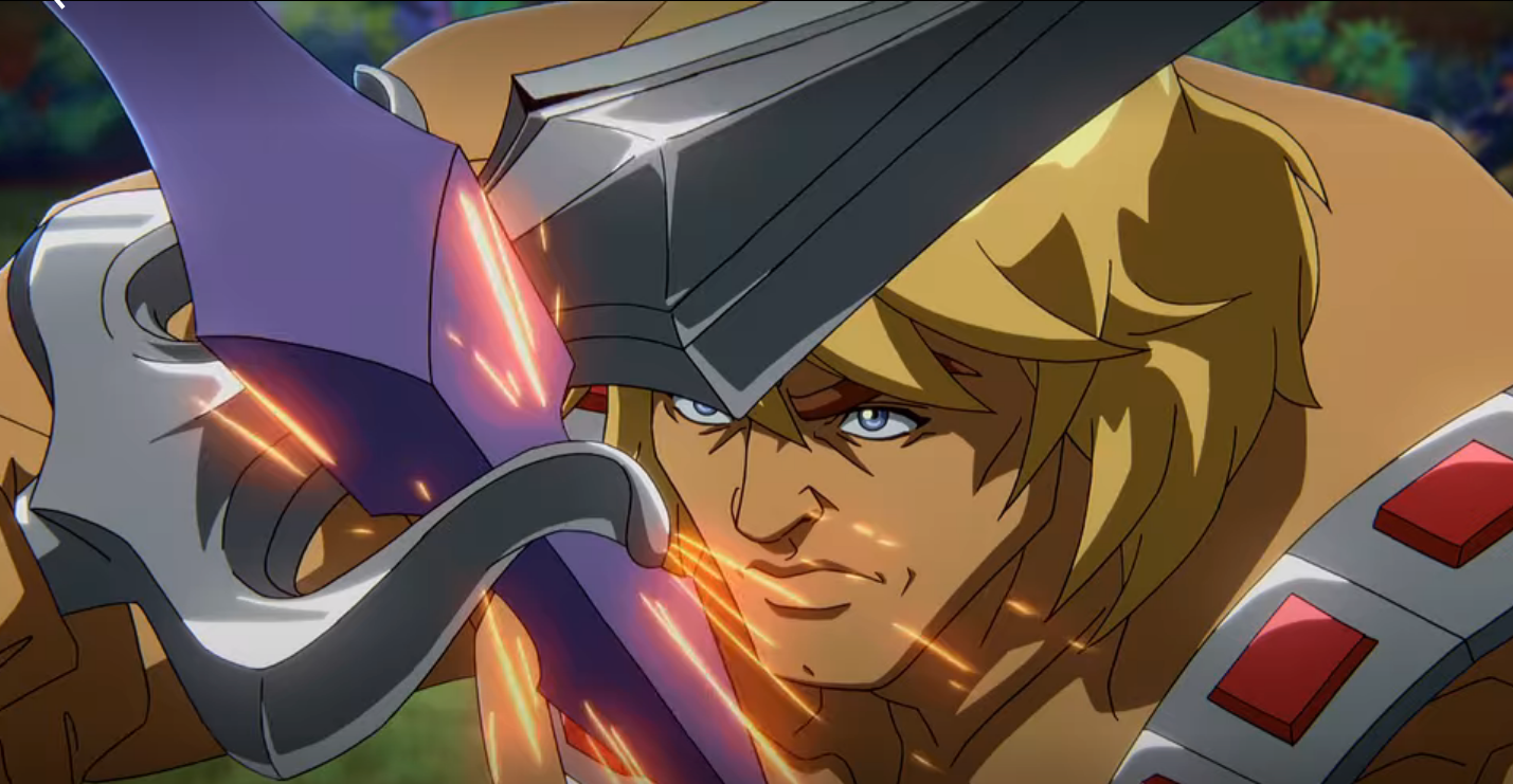He-Man duels Skeletor (from Masters of the Universe: Revelation)